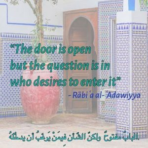 The door is open: Rābiʿa al-ʿAdawiyya
