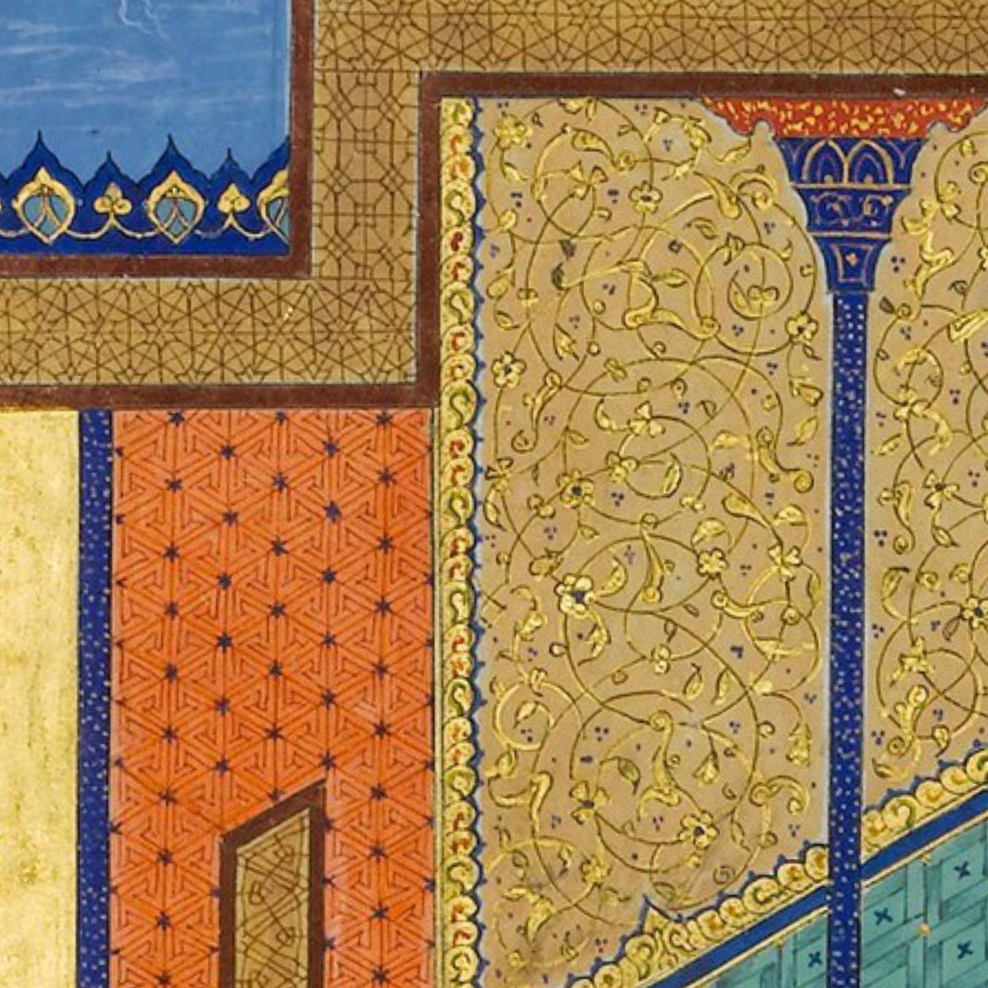 Detail from an illustration of the Haft Paikar of Nizami